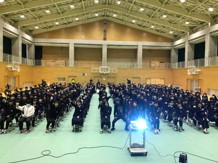 宍道町立宍道中学校の講演 と 振り子式特急「やくも」は「はくも」